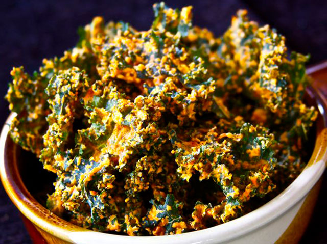 A Large Bag Of Kale Or Spinach Olive Oil Either Liquid Spray Salt Dry Flavouring Your Choice